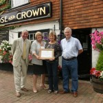 Jim Buttress, Julia Prescott, Jill and Paul Emmerson, The Rose and Crown, Burwash.