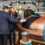 The Duke of Edinburgh in the brewhouse