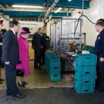The Queen in the bottling plant