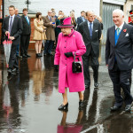 The Queen and Duke of Edinburgh going to lunch