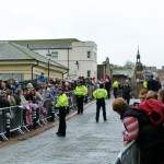 Lewes crowd waiting for the Queen and DoE