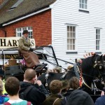 Lewes crowd Dray Cart