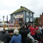 Dray Cart going through Lewes